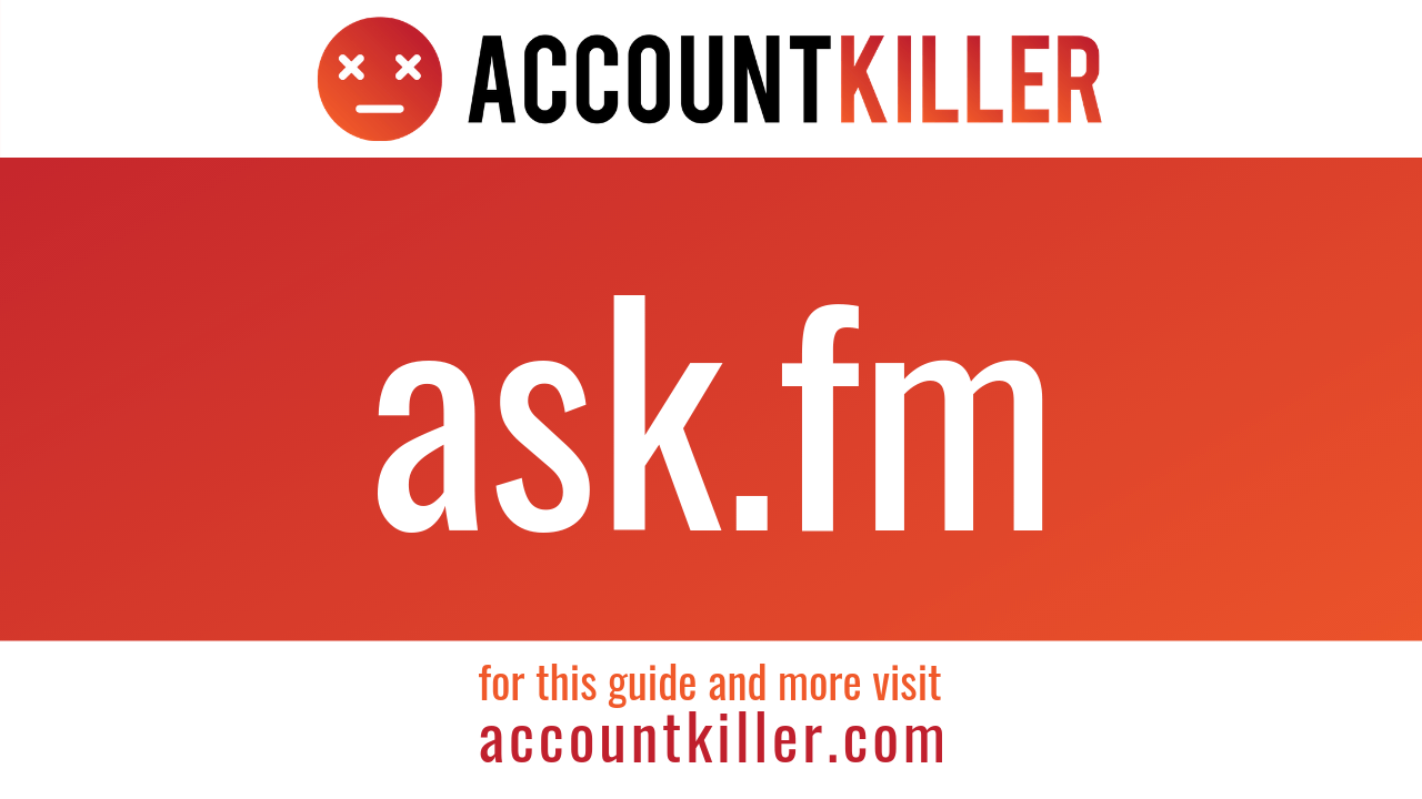 How to delete your Ask.FM account