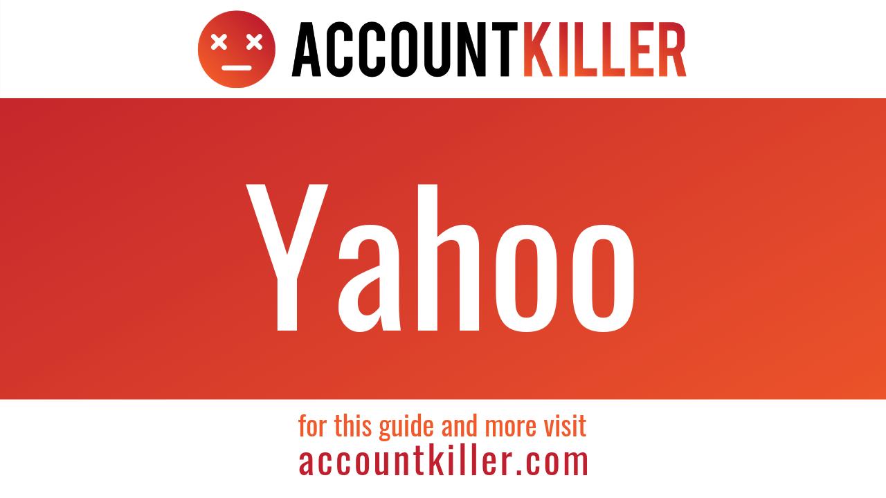 Ihre Yahoo Konto löschen