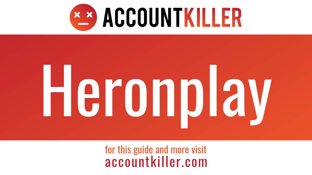 How to cancel your Heronplay account