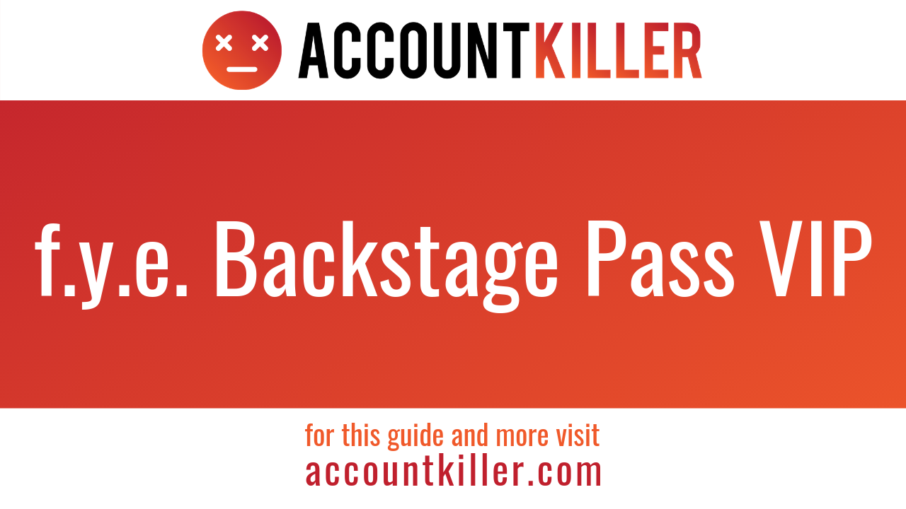 How to cancel your f.y.e. Backstage Pass VIP account