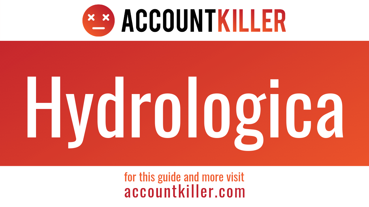 How to cancel your Hydrologica account