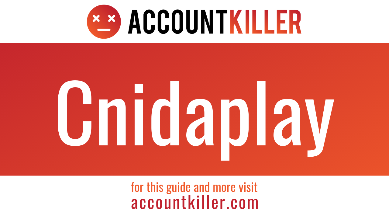 How to cancel your Cnidaplay account