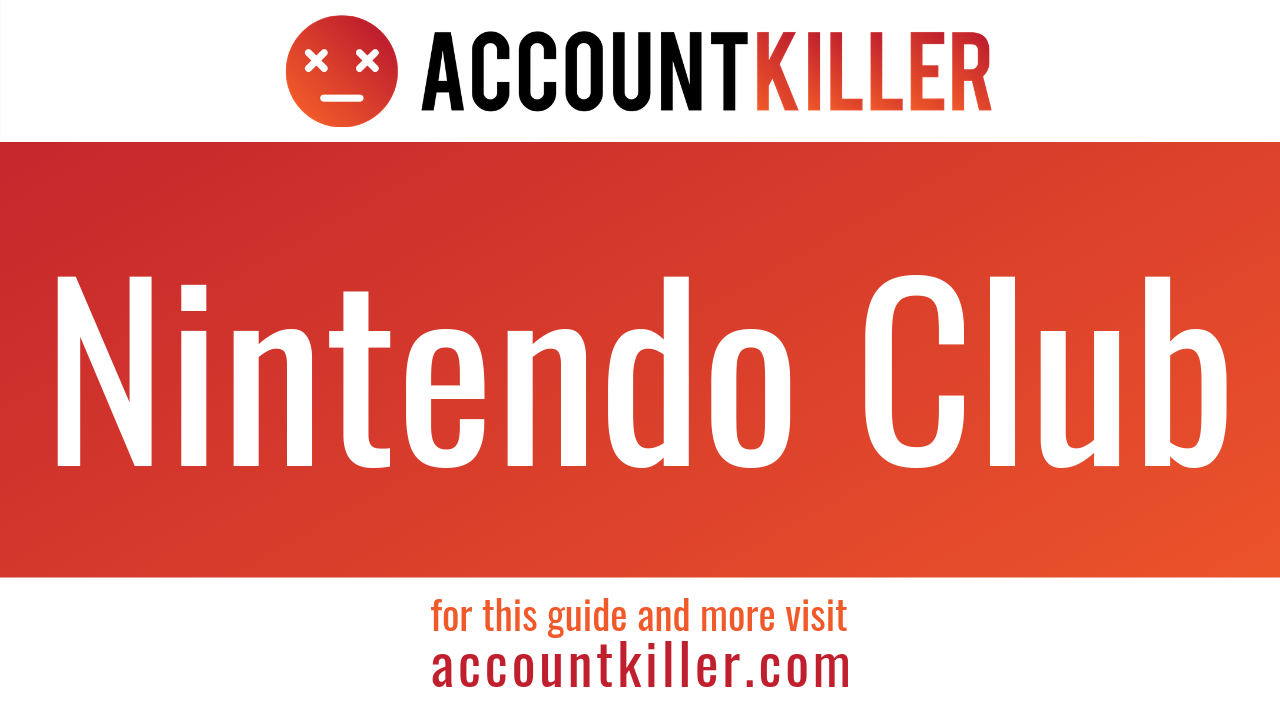 How to cancel|delete your Nintendo Club account