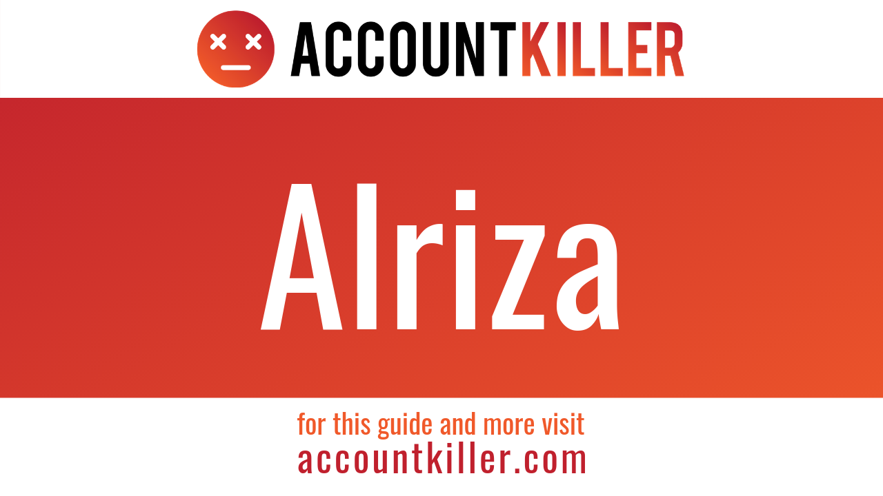 How to cancel your Alriza account